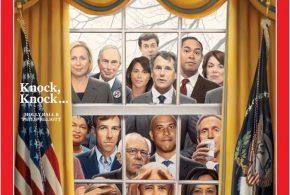 روی جلد هفته نامه تایم /دموکرات ها پشت پنجره کاخ سفید(عکس)