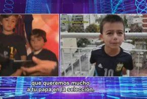 پیام کودکان آرژانتینی برای تیاگو مسی :پدرت افتخار آرژانتین و بهترین بازیکن جهان است(ویدئو)