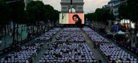 نمایش فیلم در وسط زیباترین خیابان جهان؛ خوش به حال پاریسی ها!