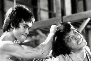 صحنه مبارزه واقعی بروس لی و جکی چان در فیلم اژدها وارد می شود