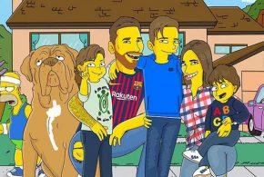 وقتی لیونل مسی و خانواده به دنیای سمپسون ها وارد می شوند(عکس)