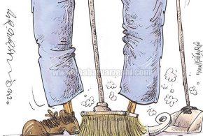 ماجرای نظافت چی و دیاباته، از زاویه نگاه یک کارتونیست!
