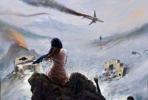 نقاشی بزرگمهر حسین پور از اتفاقات تلخ سال 98