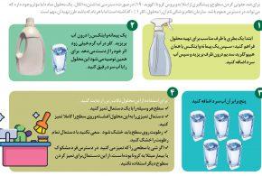 چگونه با موادی که در دسترس است ماده ضدعفونی کننده درست کنید