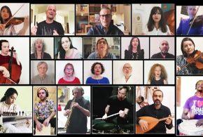 اجرای زنده علیرضا قربانی به همراه هنرمندان کشورهای خارجی در فضای مجازی(فیلم)