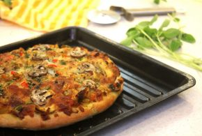 چگونه در خانه پیتزا تهیه کنیم؟( ویدئو)